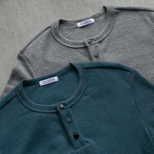 Waffle Henley 2 Pack (Heather Grey, Ocean)