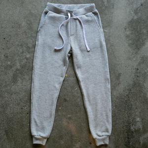 Twisted Yarn Fleece Sweatpants - Heather Grey