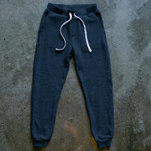 Twisted Yarn Fleece Sweatpants - Navy