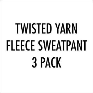 Twisted Yarn Fleece Sweatpant 3 Pack