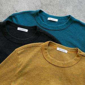 Waffle Crewneck 3 Pack (Saffron, Black, Blue-Green)
