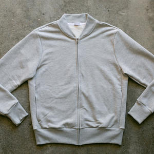 French Terry Bomber - Heather Grey
