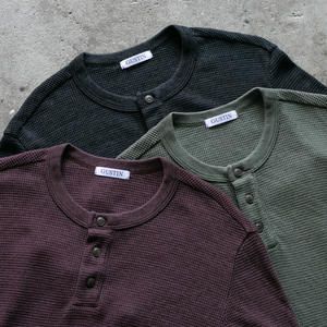 Waffle Henley 3 Pack (Oxblood, Charcoal, Olive Drab)