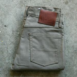 #95 Military Corduroy 5 Pocket - Green-Grey