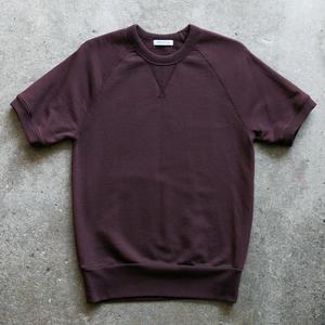 Short Sleeve Sweatshirt - Oxblood