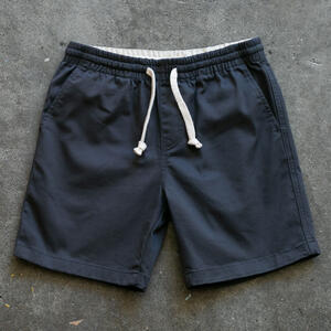 #1 Drawstring Chino Short - Charcoal Stretch Twill
