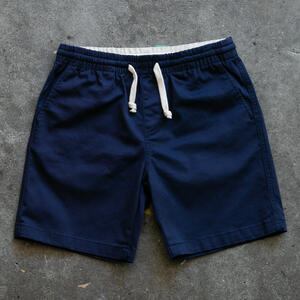 #2 Drawstring Chino Short - Navy Stretch Twill