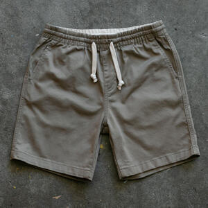 #3 Drawstring Chino Short - Khaki Stretch Twill