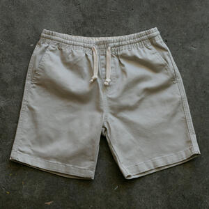 #5 Drawstring Chino Short - Bone Stretch Twill