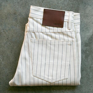 #106 Japan Pinstripe Herringbone 5 Pocket - Natural