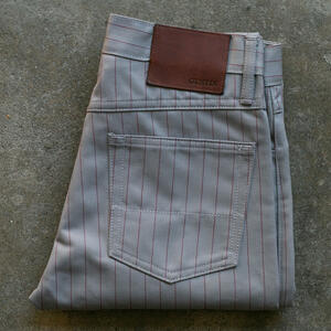 #103 Japan Pinstripe Herringbone 5 Pocket - Slate