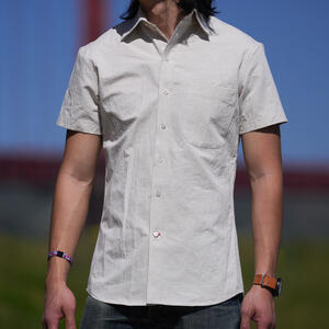 #763 Hemp 100 Short Sleeve Shirt - Natural