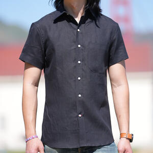 #762 Hemp 100 Short Sleeve Shirt - Black