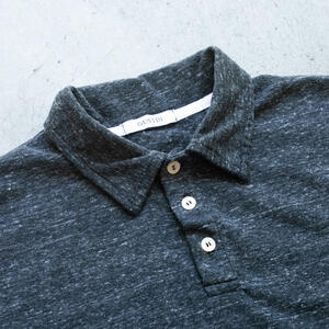 Heather Charcoal Polo