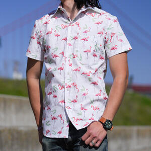 #765 Flamingos Short Sleeve Shirt