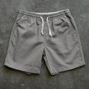 #8 Drawstring Chino Short - Silver Stretch Twill