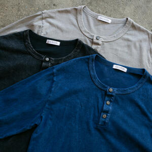Mineral Wash Henley 3 Pack (Black, Blue, Stone)