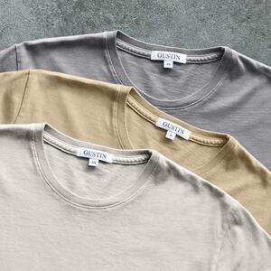 Pima Cotton T-Shirt Desert Shades (Sand, Stone, Mustard)