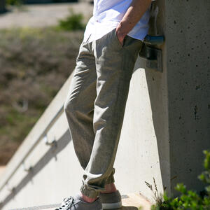 Linen Chambray Joggers - Olive
