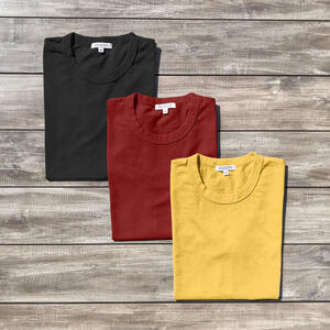 Heavyweight T-Shirt 3 Pack (Black, Deep Red, Yellow Gold)