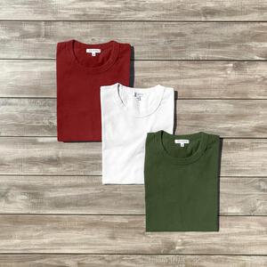 Heavyweight T-Shirt 3 Pack (Deep Forest, White, Cardinal)
