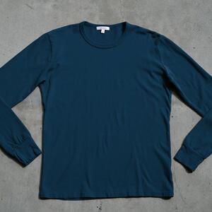 Long Sleeve Heavyweight T-Shirt 2 Pack (Deep Blue)
