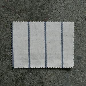 #859 Vintage Baseball Stripe - NaturalxBlue