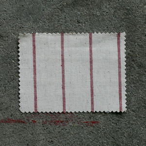 #858 Vintage Baseball Stripe - NaturalxRed
