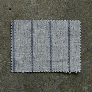 #857 Vintage Baseball Stripe - GreyxBlue