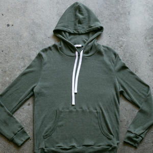 Waffle Pullover - Olive Drab