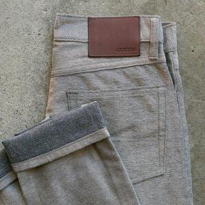 #132 Shaggy Twill 5 Pocket - TaupeXGrey