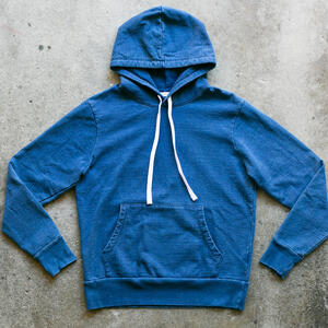 French Terry Pullover - Mid Indigo Dye